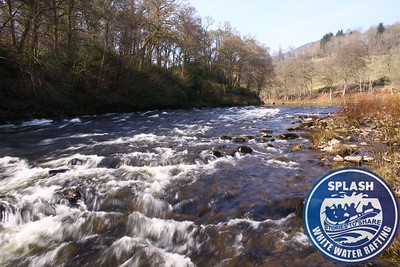 White water rafting river tay Aberfeldy Perthshire Scotland with Splash