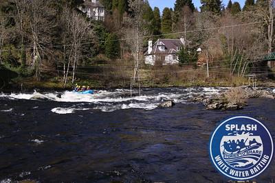 White water rafting Rive Tay Aberfeldy Scotland