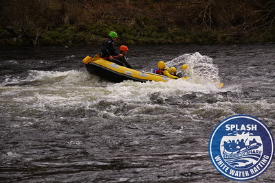 White water rafting river tay Scotland