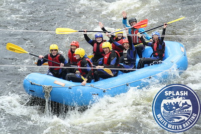 White water rafting with Splash on the River Tay from Aberfeldy to Grandtully in Perthshire, Scotland - http://rafting.co.uk