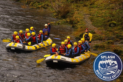 Stag party rafting the River Tay with Splash