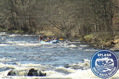 School group from Cumbria White Water Rafting on the River Tay  http://www.rafting.co.uk