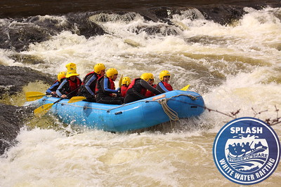 Charity fundrasing rafting on the River Tay