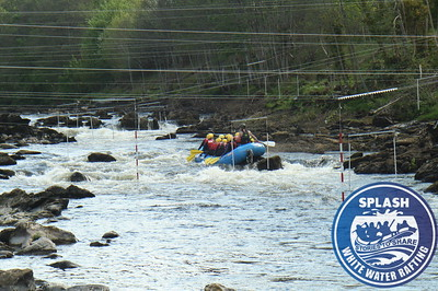 Friends rafting on the River Tay from Aberfeldy to Grandtully  http://www.rafting.co.uk