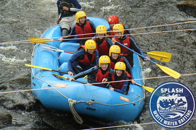 Stag and hen parties rafting the River Tay with Splash