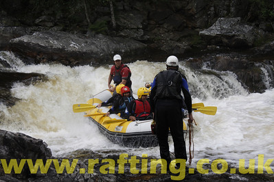Stag do white water rafting with Splash on the River Tummel in Perthshire, Scotland - http://rafting.co.uk