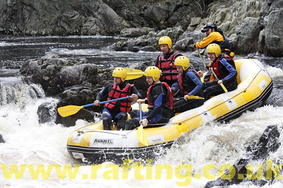 White Water Rafting with Splash Rafting on the River Tummel Scotland