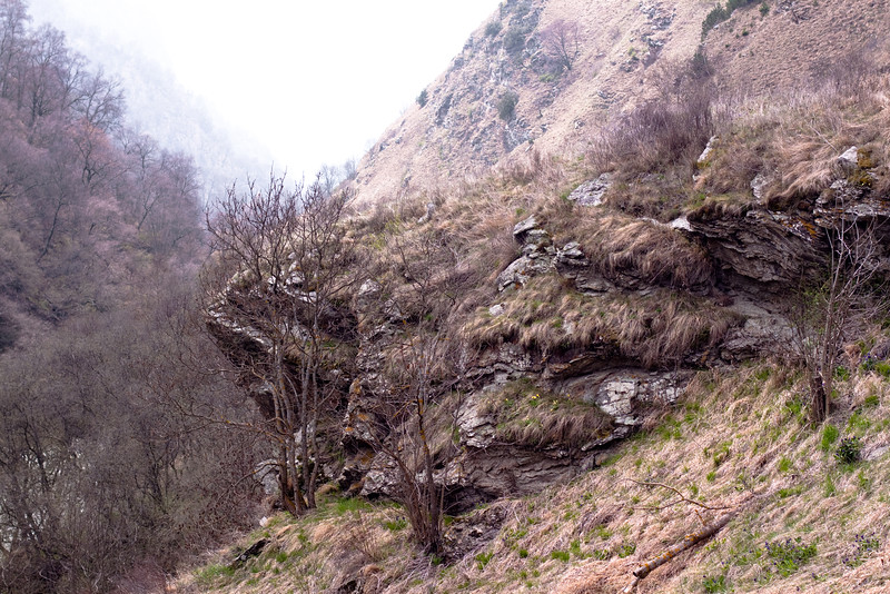 A gorge slope