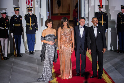 Official Visit of His Excellency  Matteo Renzi Prime Minister of Italy and Mrs Agnese Landini