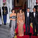 President Barak Obama, First Lady Michelle Obama, His Excellency Matteo Renzi Prime Minister of the Republic of Italy and Mrs. Agnese Landini - State Dinner October 18 2016
