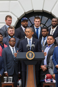 President Obama and New England Patriots