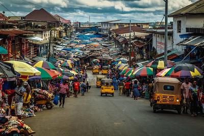 Monrovia, Liberia October 13, 2017 - Sreet scene.
