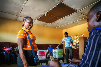Monrovia, Liberia October 10, 2017 - A polling station on election day.