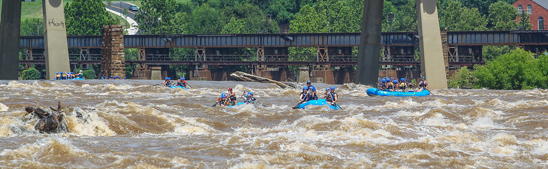 James River/Flood Wall 7-6-2013 River City Rafting