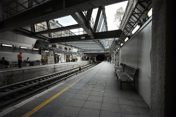 2015, August, in the space of a long weekend the main superstructure of the what would become the new concourse of the refurbished station was constructed over the length of the Overground platform.