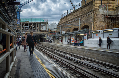 2015, April, Open Sky on the Oveground platform. At this stage the Victorian road bridges over Durward and Winthrop Street and the interior railbeds of the Underground were all removed almost completely opening up the platform to the elements.
