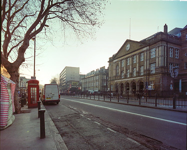 Whitechapel Road in front of the Royal London Hospital, shortly before it closed.