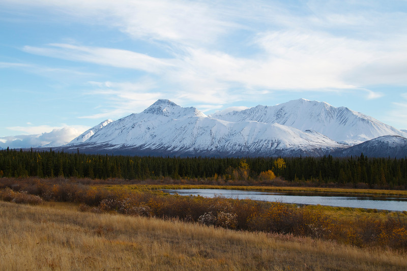 Somewhere along the ALCAN in the Yukon.