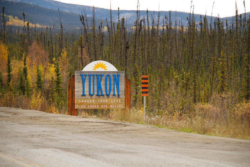 Entering the Yukon from Alaska.