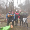 The crew running the Tohickon on March 14 at over 3000 cfs (6' at the bridge)