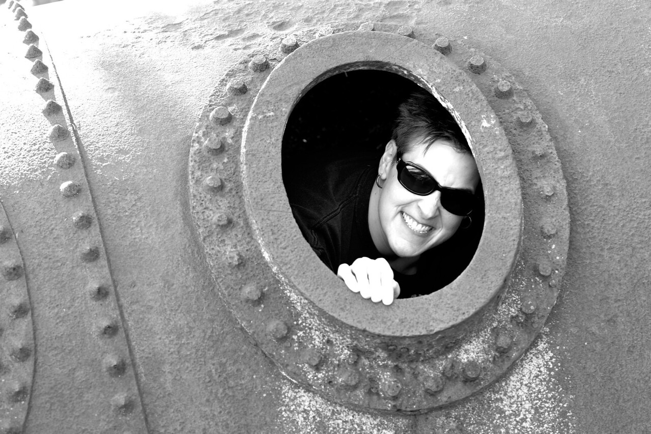 Randi in a Tube! Stand Clear of the Doors Please!