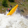 Brian Ward in Juicer at 8000cfs. North Fork of the Payette, photo by Mike Reid.