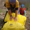 Stoneycreek take-out, Lucas helping dad
