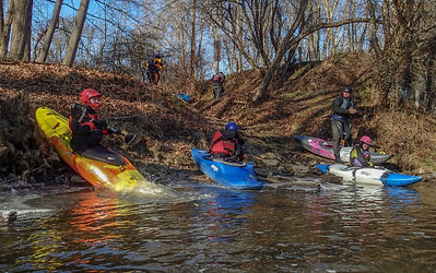 2015-01-01 Slippery Rock Creek, New Year's Day Paddle
