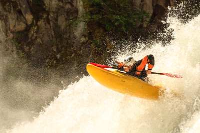 Hector Darby-Maclellan shows good form on the now-dewatered Skookum Creek above Squamish, British Columbia.