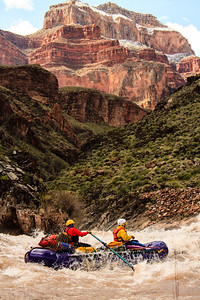 An unknown group rows through Crystal on the Grand Canyon.
