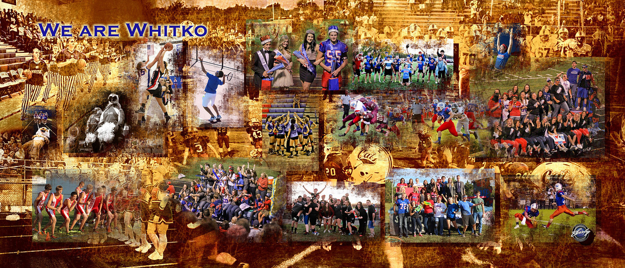 sports collage 60x24