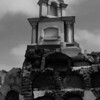 Cemetery after earthquake. Pisco, Peru.