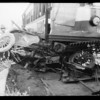 Wreck at Leimert Park, George Conley killed - the man who played Abraham Lincoln, Los Angeles, CA, 1929