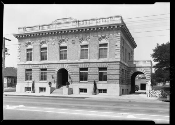 Police station on York Boulevard, Los Angeles, CA, 1929