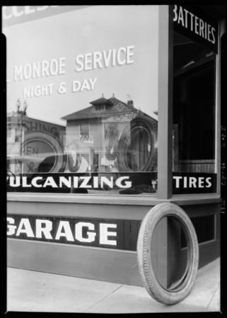 Al Monroe Tire Store, Southern California, 1925