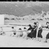 Society groups on beach at Bay Club, Pacific Palisades, Los Angeles, CA, 1931