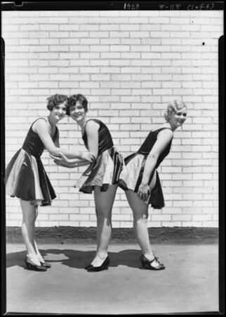 Radio show booth girls, Atwater Kent Radio, Southern California, 1928