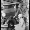 Tires on new Ford of Senator Pedrotti, Southern California, 1928