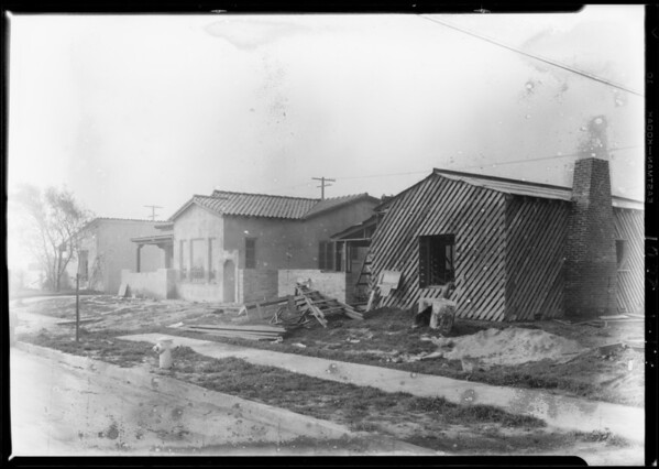 New houses, Southern California, 1928