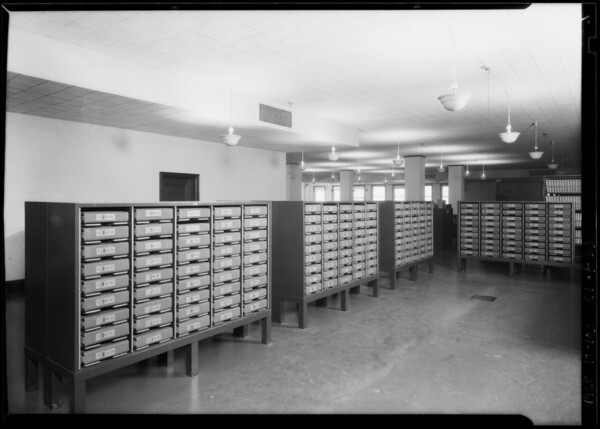 Book installations in Title Insurance Company, Southern California, 1928