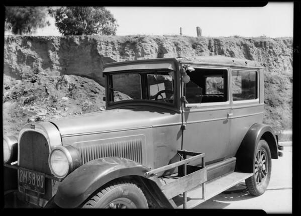 Whippet sedan belonging to Mrs. Dorothy Hollenbeck, Southern California, 1931