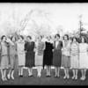 Sorority groups at 818 West Adams Boulevard, Los Angeles, CA, 1929