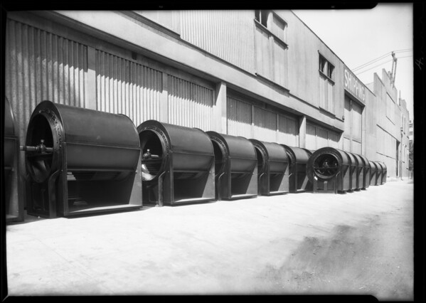 Order of fans for Proctor & Gamble installation, Southern California, 1931