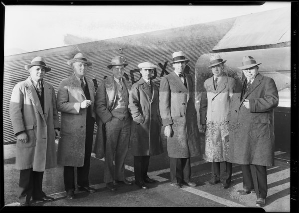 Arrival via Maddux from San Diego of Majestic dealers, Southern California, 1929