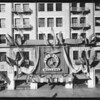 Front of store with Shrine decorations, Southern California, 1925