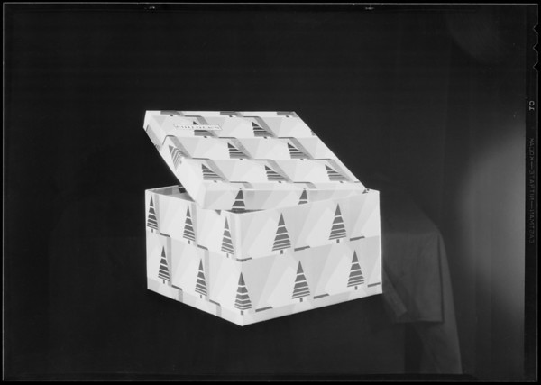 Bullock's Christmas box, Southern California, 1930