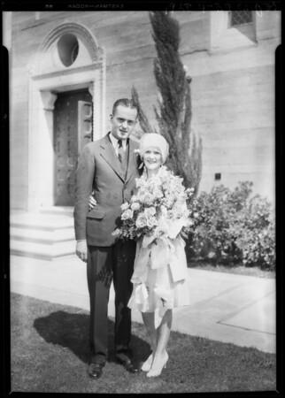 Wedding at St. John's Church, Los Angeles, CA, 1928
