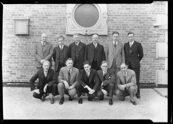 Group on roof, Jonathan Club, Southern California, 1930