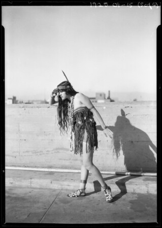 Indian girl at Western Costume, Riverside Fair Pageant, Southern California, 1925