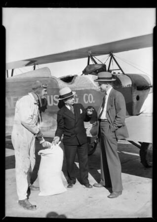 Dusting via airplane, Pacific Aero Dusting Co., Southern California, 1929